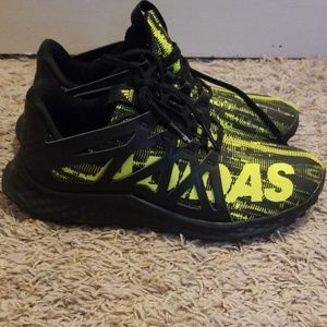 Adidas Bounce Black and Green Shoes